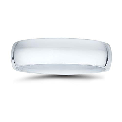 Platinum 950 Domed Wedding Band - 6mm Classic Domed Comfort Fit Wedding Band in 950 Platinum
