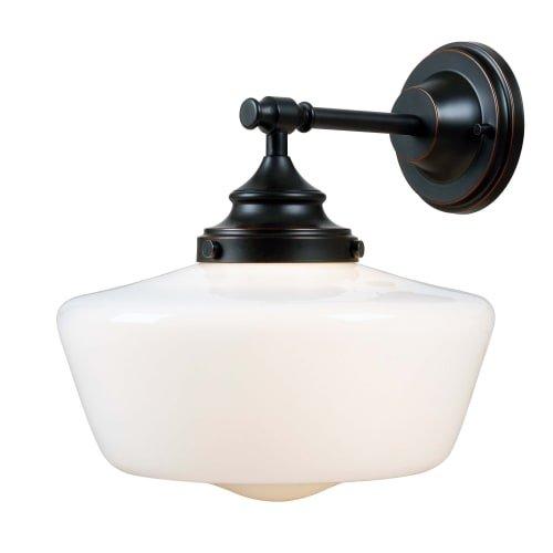 Kenroy Home 93659ORB Cambridge 1-Light Sconce, Blackened Oil Rubbed Bronze