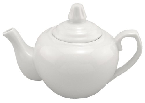 glossy white teapot - 3
