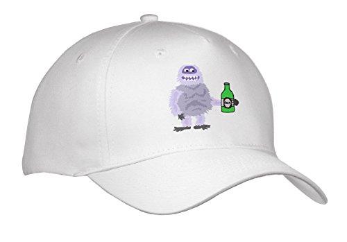 Abominable Snowman Hat (All Smiles Art Drinking - Cute Funny Abominable Snowman Drinking Beer Cartoon - Caps - Adult Baseball Cap (cap_263789_1))