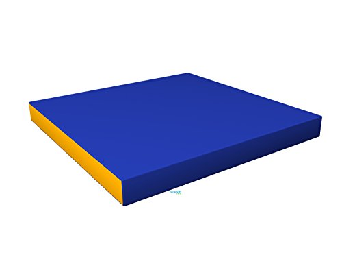 Gymnastics Blue Soft Mat for Kids / (40'' X 40'' X 4'') / Playground Indoor Sport Matting / Childrens Large Washable Mats for Home Play / Non Slip Thick Mat for Front Hallway / Cheap Fold up Playroom Mat by sportkid
