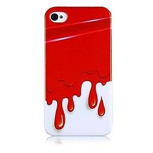 Patrón de helado del derretimiento del caso de silicona suave para iPhone5/5S