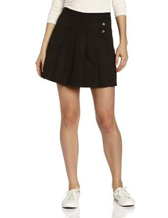 CLASSROOM Juniors Tab Pleat Scooter Skirt, Black, 9/10