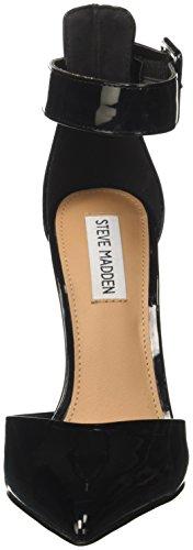 Steve Madden Desire, Sandali con Cinturino Alla Caviglia Donna Nero (Black Patent)