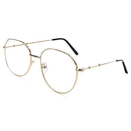 d1dae16271 Amazon.com  ARLAYO Blue Light Blocking Computer Glasses Filter UV Glare and Anti  Eyestrain  Retro Round Lightweight  (+0.00) (Black-Silver)  Health ...
