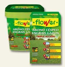 Abono cesped Triple accion Flower 7 Kg: Amazon.es: Jardín