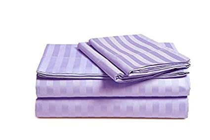 Solids and Stripes Fits 18 Deep Pocket Mattress ; 100/% Pima Cotton Pure Sateen Weave Long Staple Ultra Soft 4 Piece Bed Sheet Sets SOLID Solids and Stripes Fits 18 Deep Pocket Mattress ; SOLID, QUEEN - WHITE 500 Thread Count Cotton Sheets Set