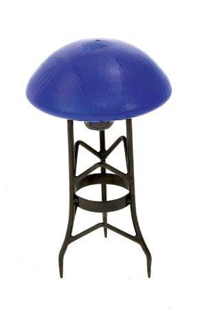 Achla Designs Glass Toadstool Mushroom Gazing Ball, Blue