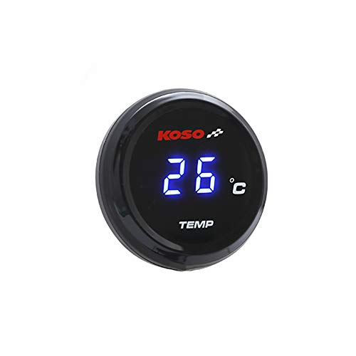 SMOKU MOTOR KOSO I-Gear 1.6'' Thermometer (22MM Connector, - Digital Water Temperature Gauge