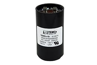 TEMCo Motor Start Capacitor SC0074-161-193 mfd 220-250 V ...