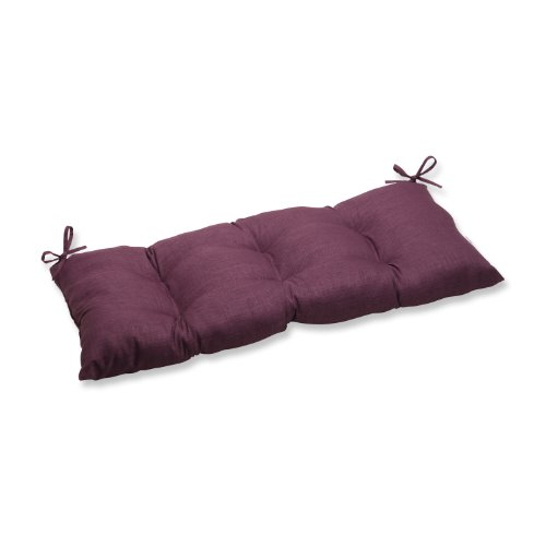 Pillow Perfect Indoor/Outdoor Rave Vineyard Swing/Bench Cushion (Cushion Purple Bench)
