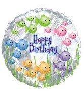 Happy Birthday Fish Bowl Balloon (18 Inch Mylar) Pkg/1