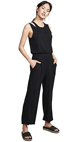 Terez Women's Rib Jumpsuit, Black Rib, X-Small, used for sale  Delivered anywhere in USA
