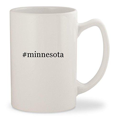 #minnesota - White Hashtag 14oz Ceramic Statesman Coffee Mug (Minnesota Twins Lunch)