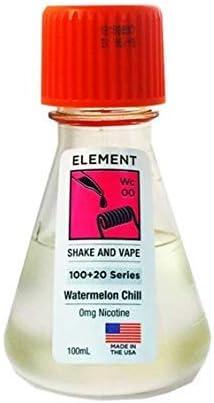 Element E-Liquid Goteo Serie 100ml 0mg Shortfill Vapeado 0mg E-Liquid E-Líquido para cigarillo electrónico sabor Sensation sin nicotina Todo sabor (Watermelon Chill)