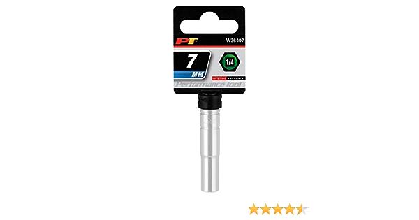 "6 Point Performance Tool W38207 Chrome Socket 3//8/"" Drive 7mm Shallow"