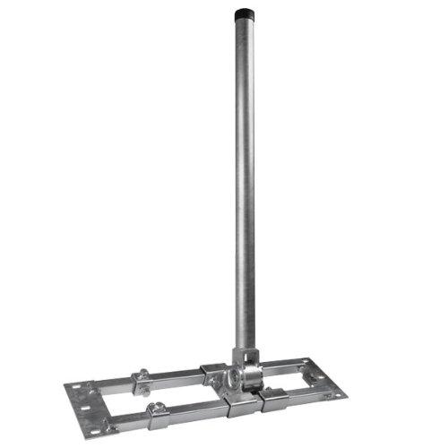 Dachabdeckung ALU Schwarz Gummimanschette Schwarz Dach Montage Set Sparrenhalter NEU Dachsparrenhalter Herkules mit 90cm Mast S48-90 ausziehbar 55-90cm