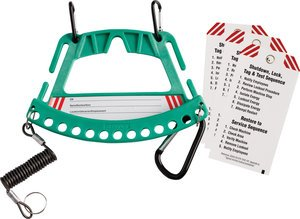 Green Portable Safety Lock and Tag Carrier