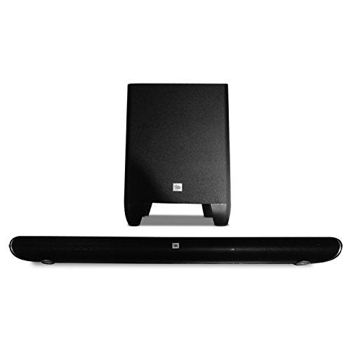 JBL Home Cinema SB 350 Heimkino 2.1 Soundbar Lautsprechersystem mit Kabellosem Wireless Subwoofer und Bluetooth/HDMI/Analog Konnektivität - Schwarz