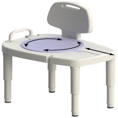 NV725881000EA - Extra Wide Tall-Ette Elevated Toilet Seat with Aluminum - Wide Toilet Extra Seat