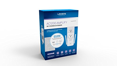 Linksys AC1200 Amplify Dual Band High-Power Wi-Fi Gigabit Range Extender / Repeater with Intelligent Spot Finder Technology and AC Pass Thru (RE6700) by Linksys (Image #9)