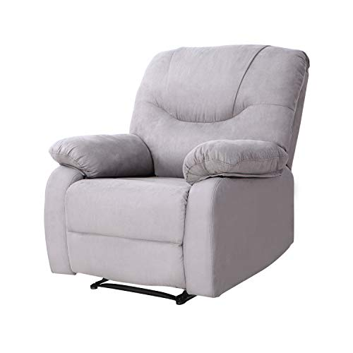 Modern Power Recliner with USB Charging Port - LCH Heavy Duty Microfiber Single Reclining Sofa Chair Living Room Furniture