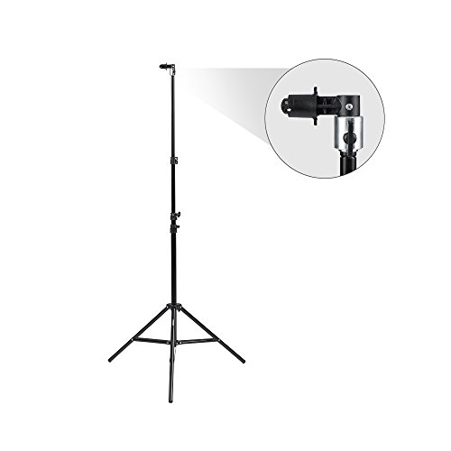 Fovitec StudioPRO - 1x 7'6'' Pop Out Muslin Backdrop & Reflector Clip Stand - [Includes Light Stand and Clip][Backgrounds Sold Separately] by Fovitec