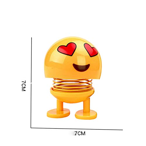 Shaking Toys Car Ornaments Nod Dolls Toy Funny Emoji Car Toy Wobble Robot Cute Cartoon Lovely Car Auto Toys#E -Multicolor Complete Series Merchandise -