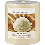 Vanilla Candle - Scented Pillar Candle, 1 candle