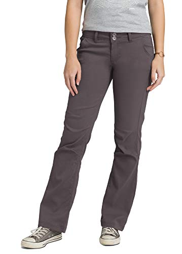 prAna – Women's Halle Roll-up, Water-Repellent Stretch Pants for Hiking and Everyday Wear, Short Inseam, Moonrock, 6