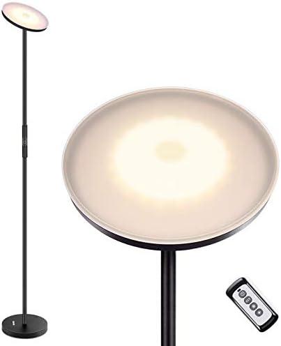 Albrillo LED Lámpara de Pie - Lámpara Táctil de Hierro 20W con Control Remoto, 3 Temperaturas de Color, Regulable sin Escalonamientos, Bajo Consumo, Lámpara Moderna para Salón, Dormitorio y Oficina: Amazon.es: Iluminación