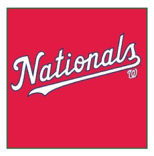 Majestic Athletic Majestic Adult Mlb Washington Nationals Logo T-Shirt Xx-Large Athletic Red XX-Large