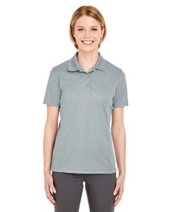 - UltraClub 8210L Ladies' Cool & Dry Mesh Pique Polo Shirt Silver Large