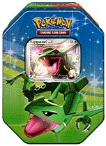 Pearl Collectors Tin - Pokemon Platinum Fall 2009 Collector Tin Set Rayquaza with Rayquaza C LV X Foil Card