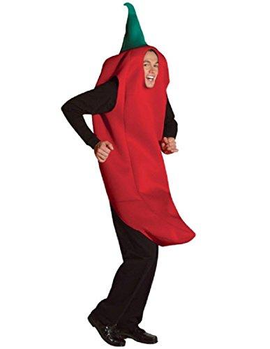Rasta Imposta Chili Pepper Costume, Red, One -