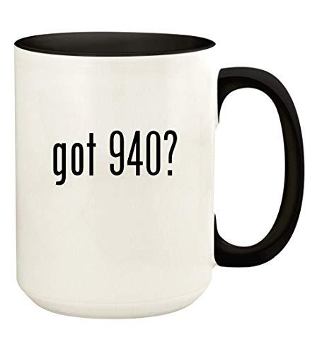 - got 940? - 15oz Ceramic Colored Handle and Inside Coffee Mug Cup, Black