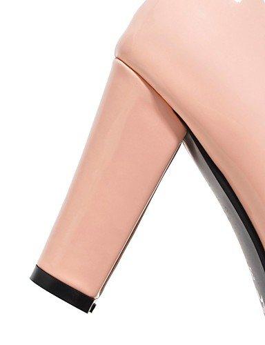 GGX/ Damen-High Heels-Büro / Lässig-PU-Blockabsatz-Absätze / Rundeschuh-Grün / Rosa / Lila pink-us9 / eu40 / uk7 / cn41