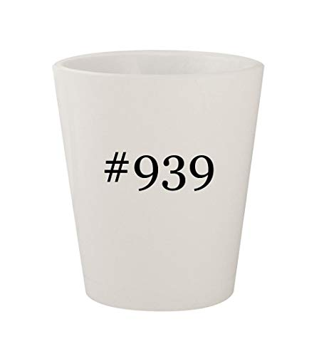 #939 - Ceramic White Hashtag 1.5oz Shot Glass