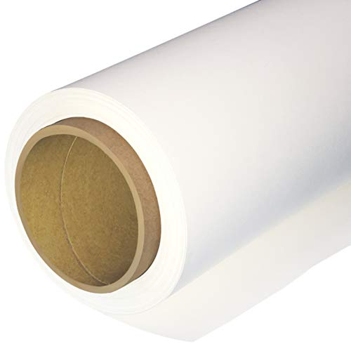 Huamei Seamless Photography Background Paper, Photo Backdrop Paper (4.4x16 Feet, Arctic White)]()