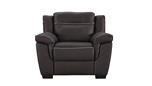 Natuzzi Editions Amalfi Brown Leather Power Motion Reclining Chair