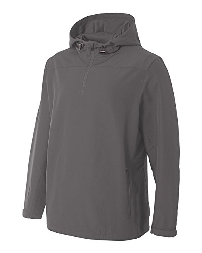 (Graphite Adult 3XL Athletic Hoodie 1/4 Zip Outerwear Water Resistant All Sports Windbreaker Jacket)