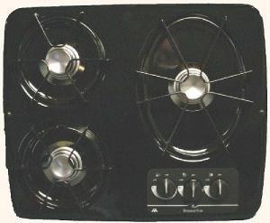 Atwood Dv30-b Black 3 Burner Drop-in Cook Top