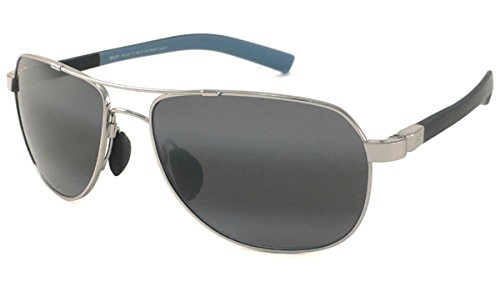 Maui Jim Guardrails 327-17 Polarized Aviator Sunglasses,Silver Frame/Neutral Grey Lens,One Size