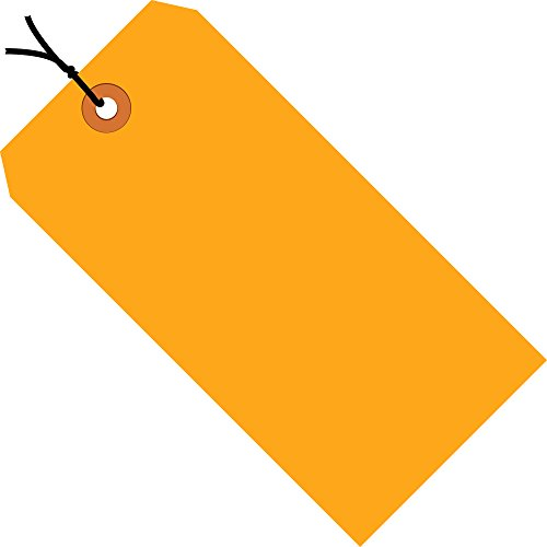 Orange Fluorescent Strung Tag (Ship Now Supply SNG12032D Shipping Tags, Pre-Strung, 13 Pt., 3 4