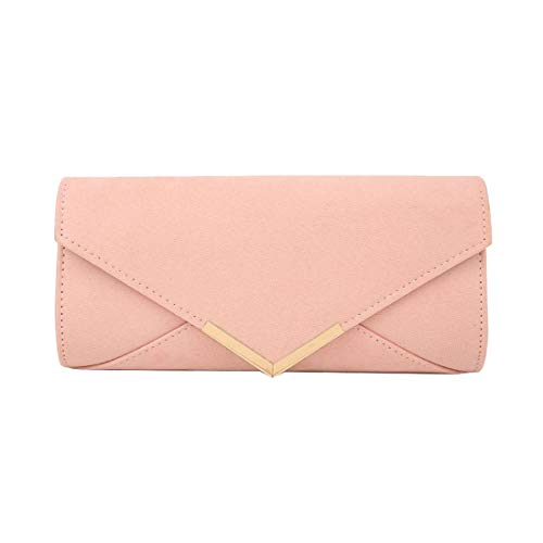 Dusty Diva Classic Ladies Silver Clutch Haute Pink Bag Envelope for STqCCfwA