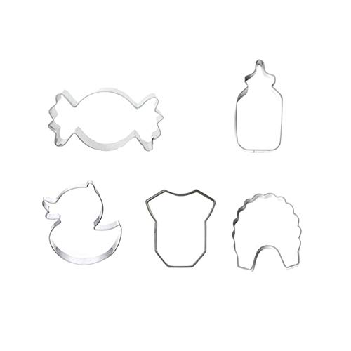 5 Pcs Cookie Cutters Baby Stainless Steel Cute Mini Mould|mini tool cookie cutters|mni coolie mold|mni -