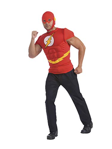 The Flash Muscle Chest Top with Mask, Red, Standard ()