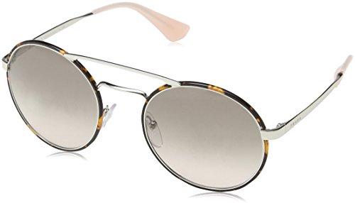 (Prada PR51SS 2AU-4K0 Silver/Dark Havana PR51SS Round Sunglasses Lens Category)