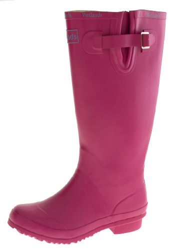 Wetlands Womens Rubber Waterproof Wellington Boots Pink