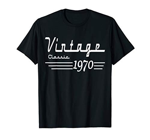 Vintage Classic Born In 1970 Gifts 50th Birthday Christmas T-Shirt (Christmas 1970)